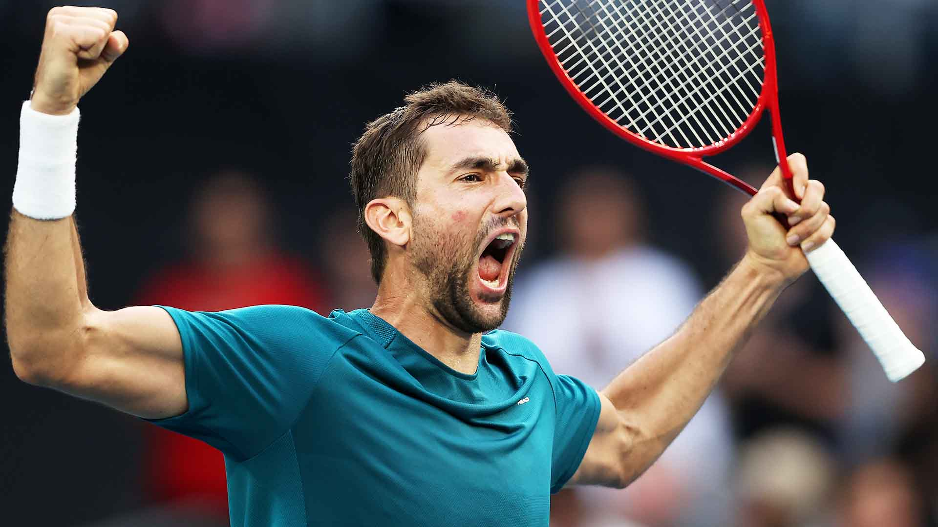 Marin Cilic beats Roberto Bautista Agut in five sets at the Australian Open on Friday.