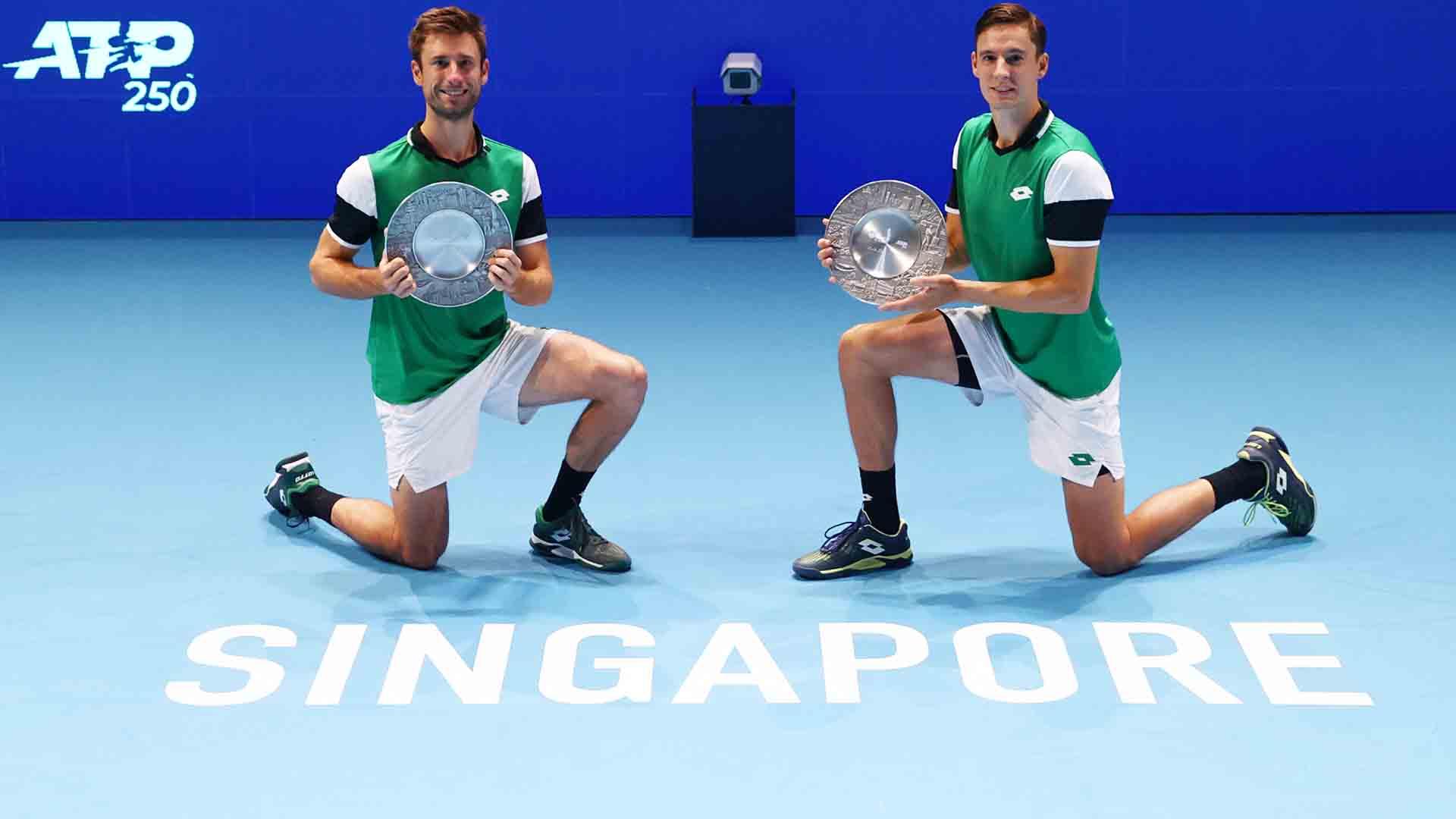 Sander Gille and Joran Vliegen own a 5-0 record in ATP Tour finals.