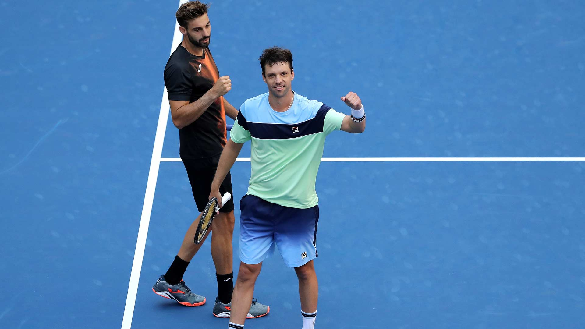 Marcel Granollers and Horacio Zeballos are through to the doubles semi-finals at the US Open.