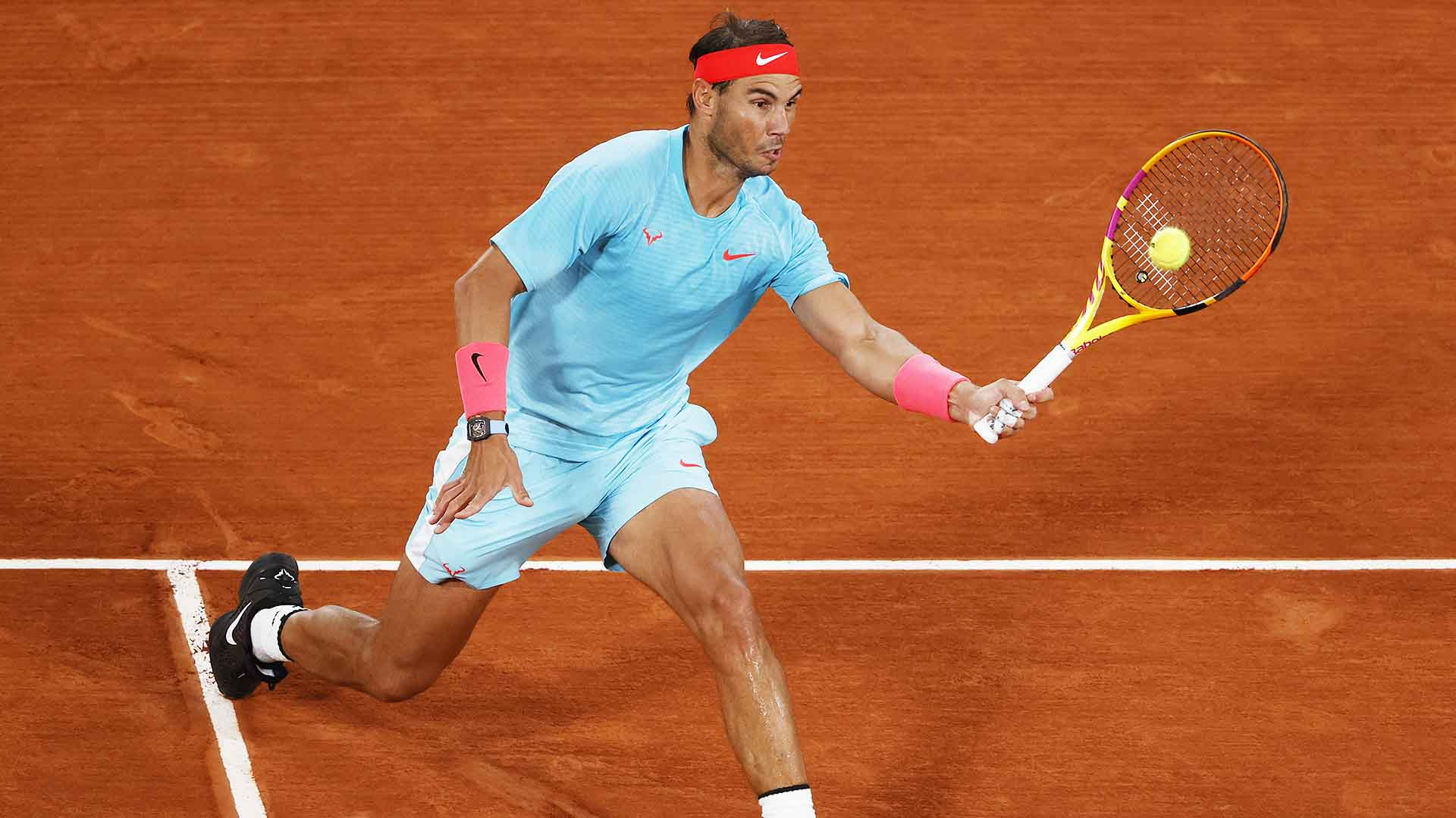 Rafael Nadal improves to 96-2 at Roland Garros.