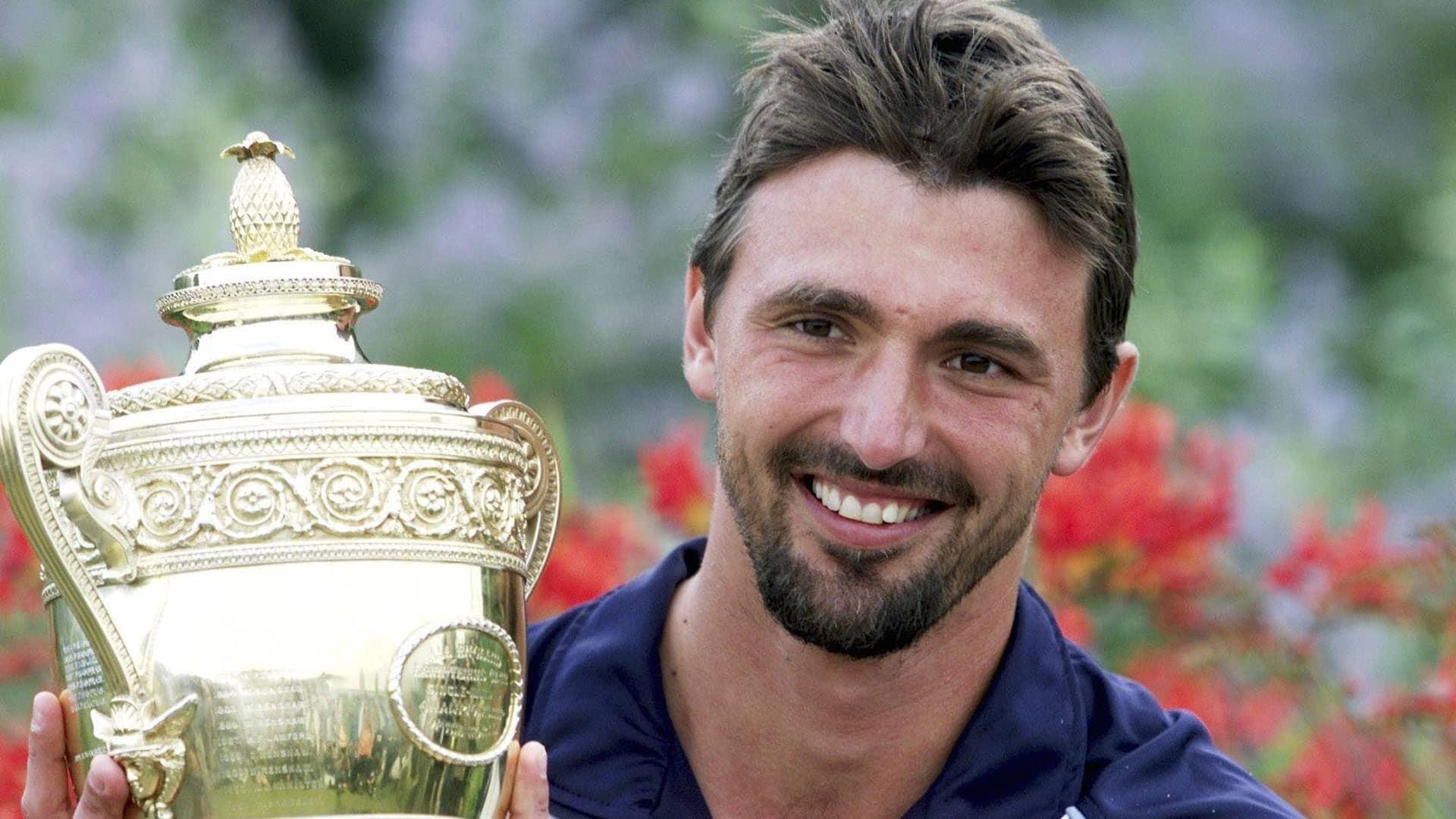 Goran Ivanisevic at 2001 Wimbledon