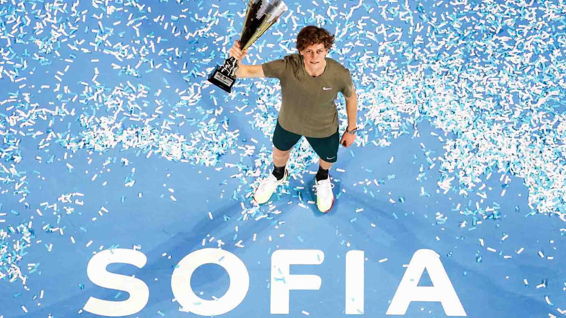 Jannik Sinner is the first Italian to win an ATP Tour singles title in 2020.