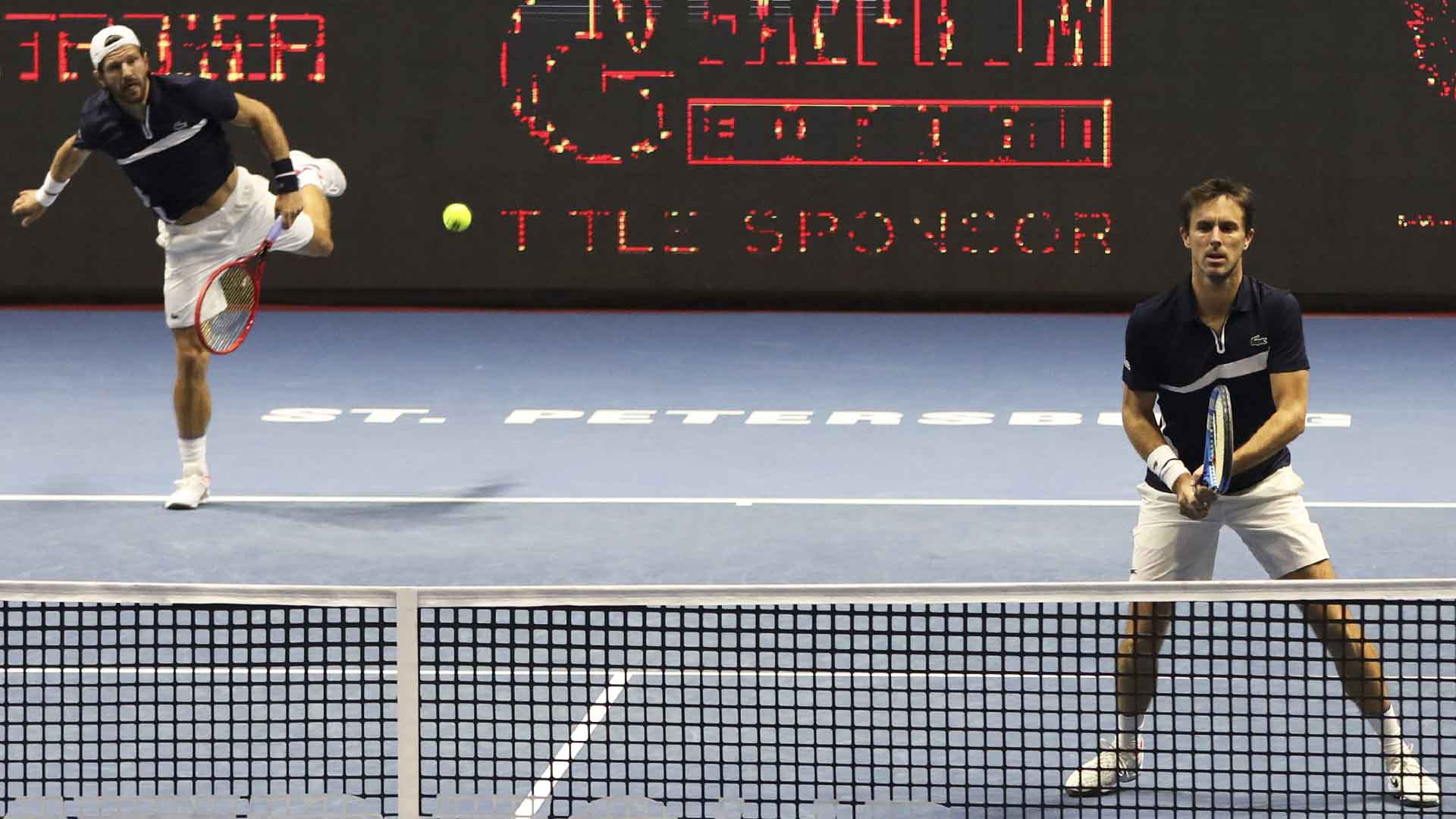 Jurgen Melzer and Edouard Roger-Vasselin beat Ben McLachlan and Franko Skugor to reach the St. Petersburg Open final.