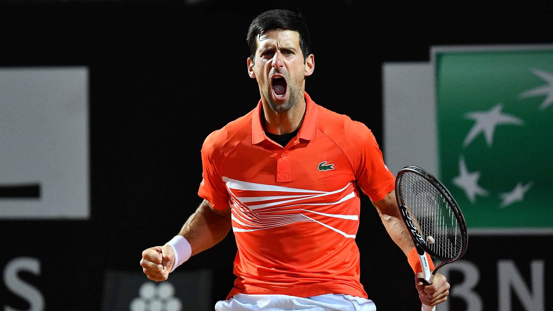 Novak Djokovic faces Juan Martin del Potro on Saturday night in Rome