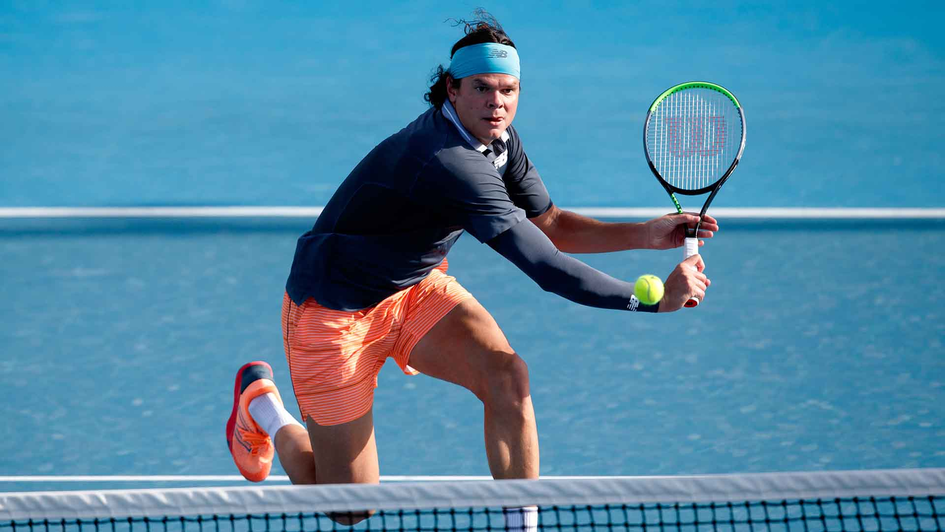 Milos Raonic wins 71 per cent of net points (25/35) to defeat Marton Fucsovics in four sets at the Australian Open on Friday.