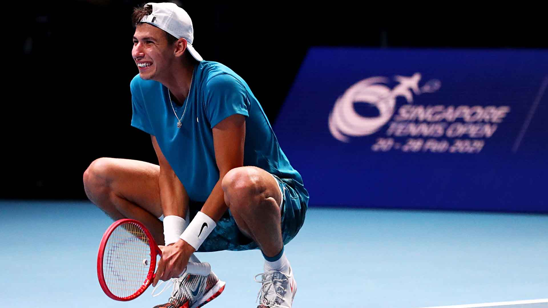 Alexei Popyrin breaks Alexander Bublik on five occasions to capture the Singapore Tennis Open trophy.