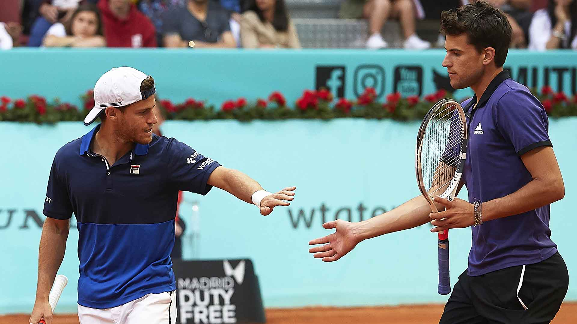 Diego Schwartzman and Dominic Thiem advance to their second tour-level final of the season at the Mutua Madrid Open.
