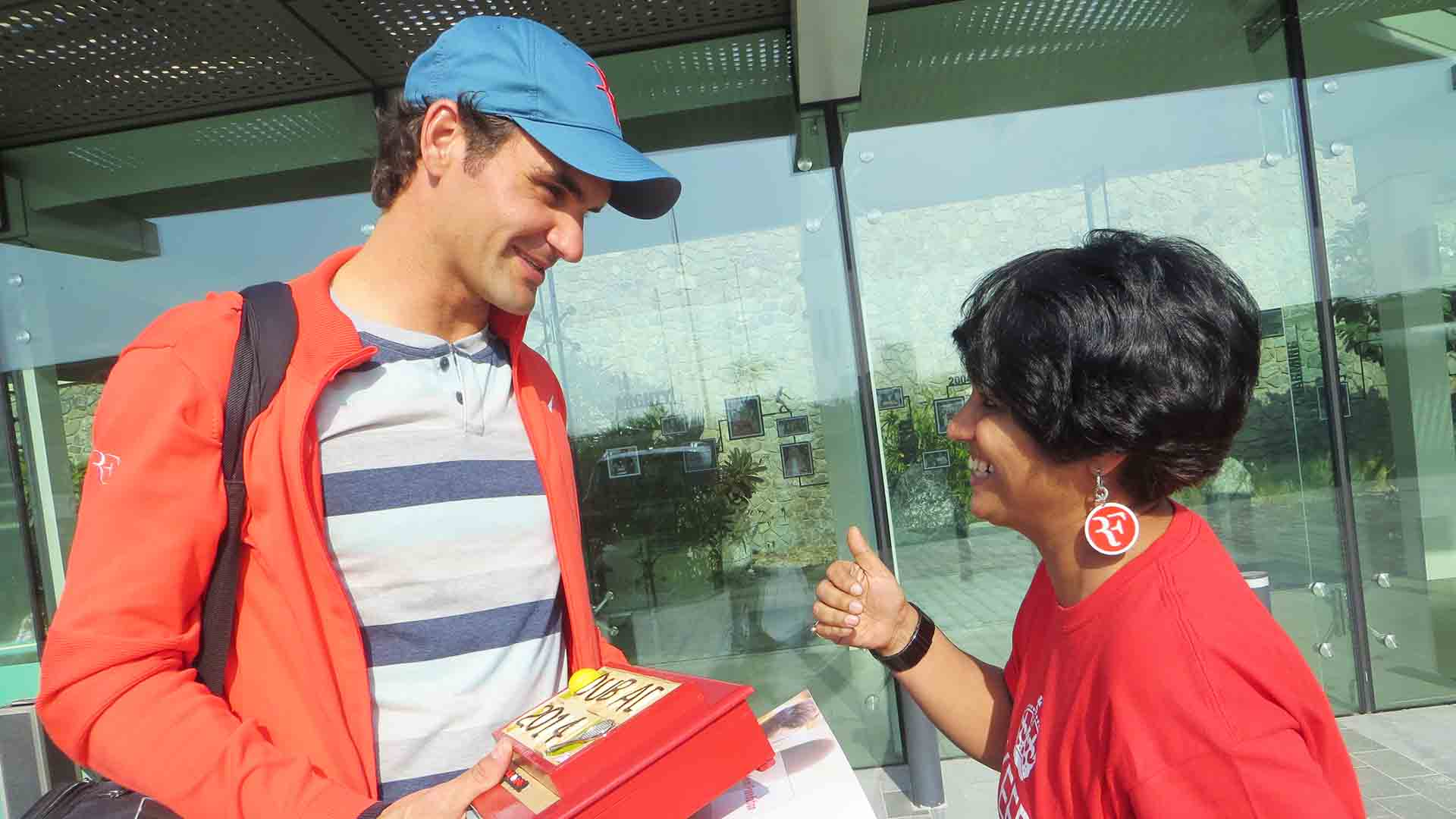 Sunita Sugita has attended more than 100 Roger Federer matches around the world.