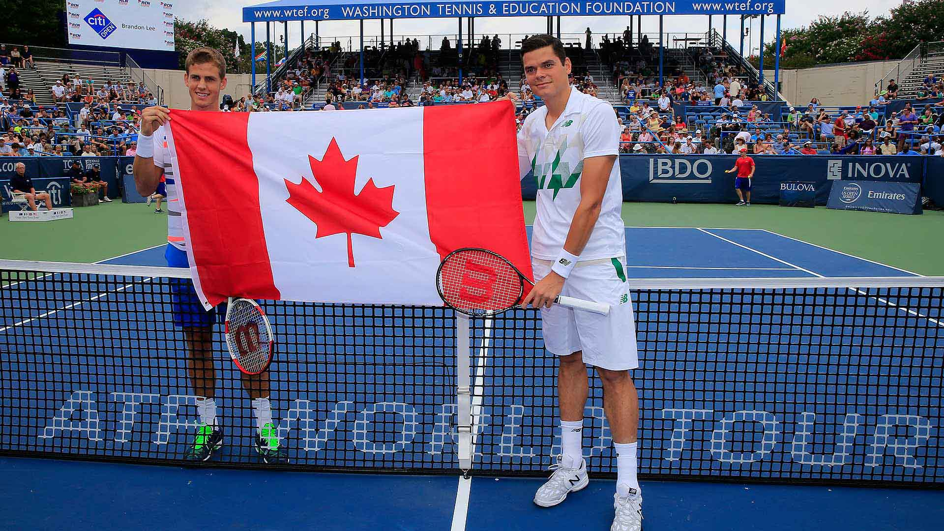 Washington 2014 Sunday Raonic Pospisil