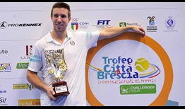 Igor Sijsling claimed his first ATP Challenger Tour title since 2012, on the hard courts of Brescia, Italy.