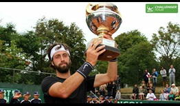 Nikoloz Basilashvili cracked the Top 100 of the Emirates ATP Rankings after saving three match points in the Scheveningen final.