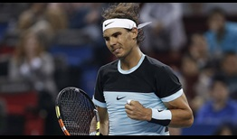 Rafael Nadal did not drop serve against Milos Raonic on Thursday.