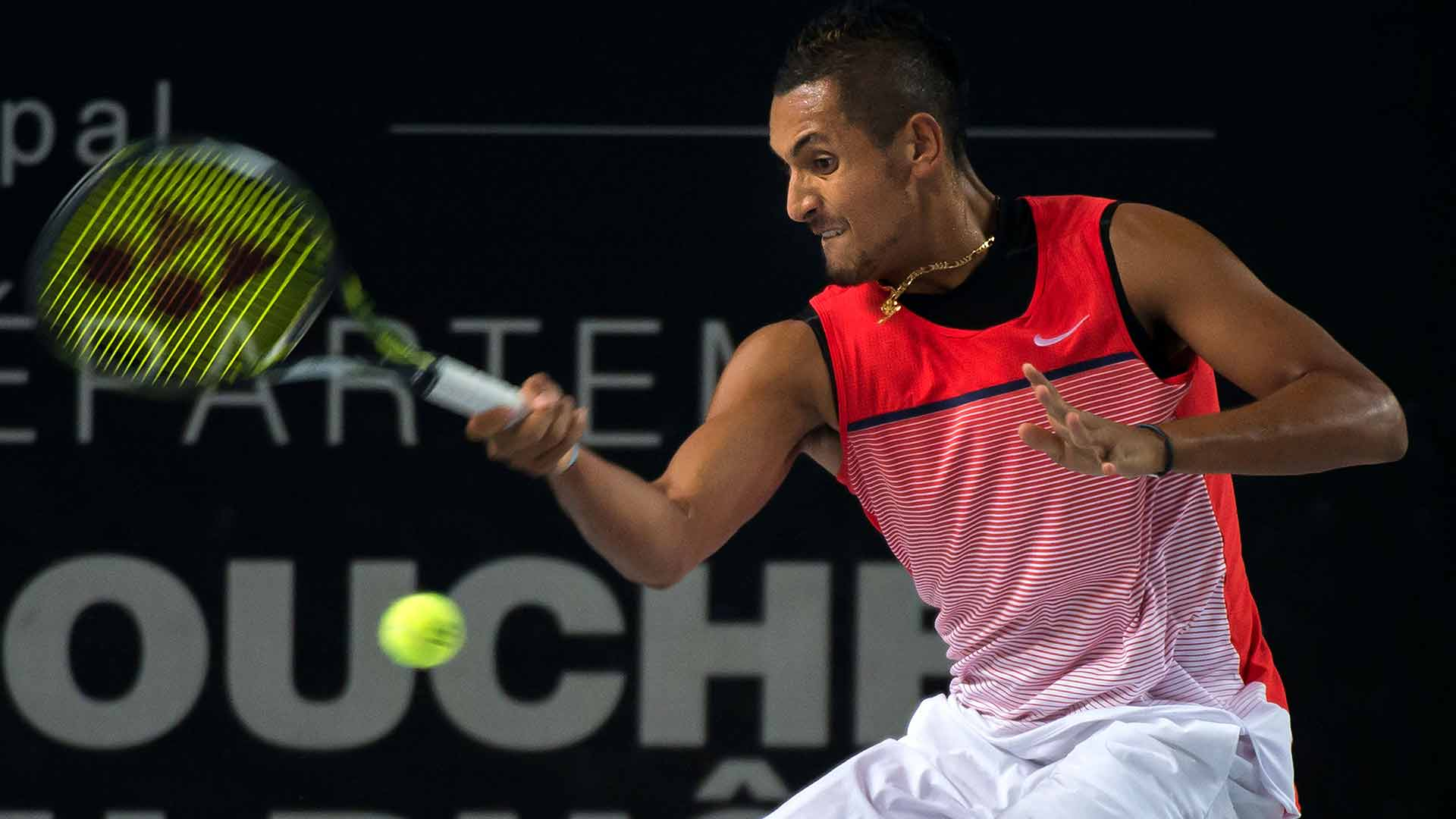 Nick Kyrgios downs Tomas Berdych to reach the Marseille final.