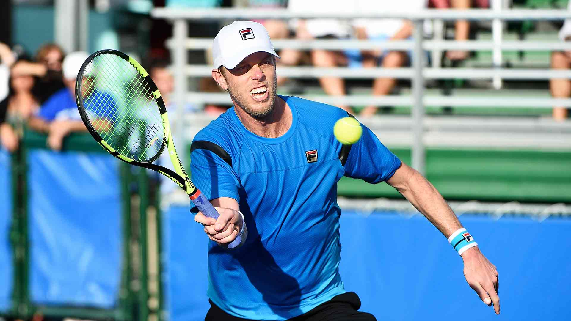 Sam Querrey secures his first tour-level title in four years in Delray Beach.