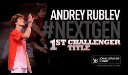 Andrey Rublev won his maiden ATP Challenger Tour title in Quimper, France.