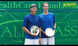 Peter Luczak and Marc Polmans finished the week as doubles finalists in Tallahassee.