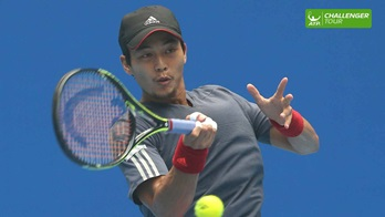 Yen-Hsun Lu made a winning return at the ATP Challenger Tour event in Seoul.