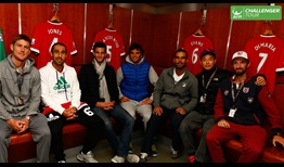 Aegon Manchester Trophy players visited Manchester United's famed Old Trafford stadium on Monday.