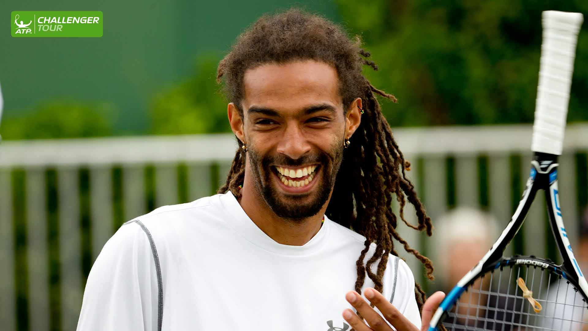 Dustin Brown is getting his grass court season off to a great start at the ATP Challenger Tour event in Manchester.