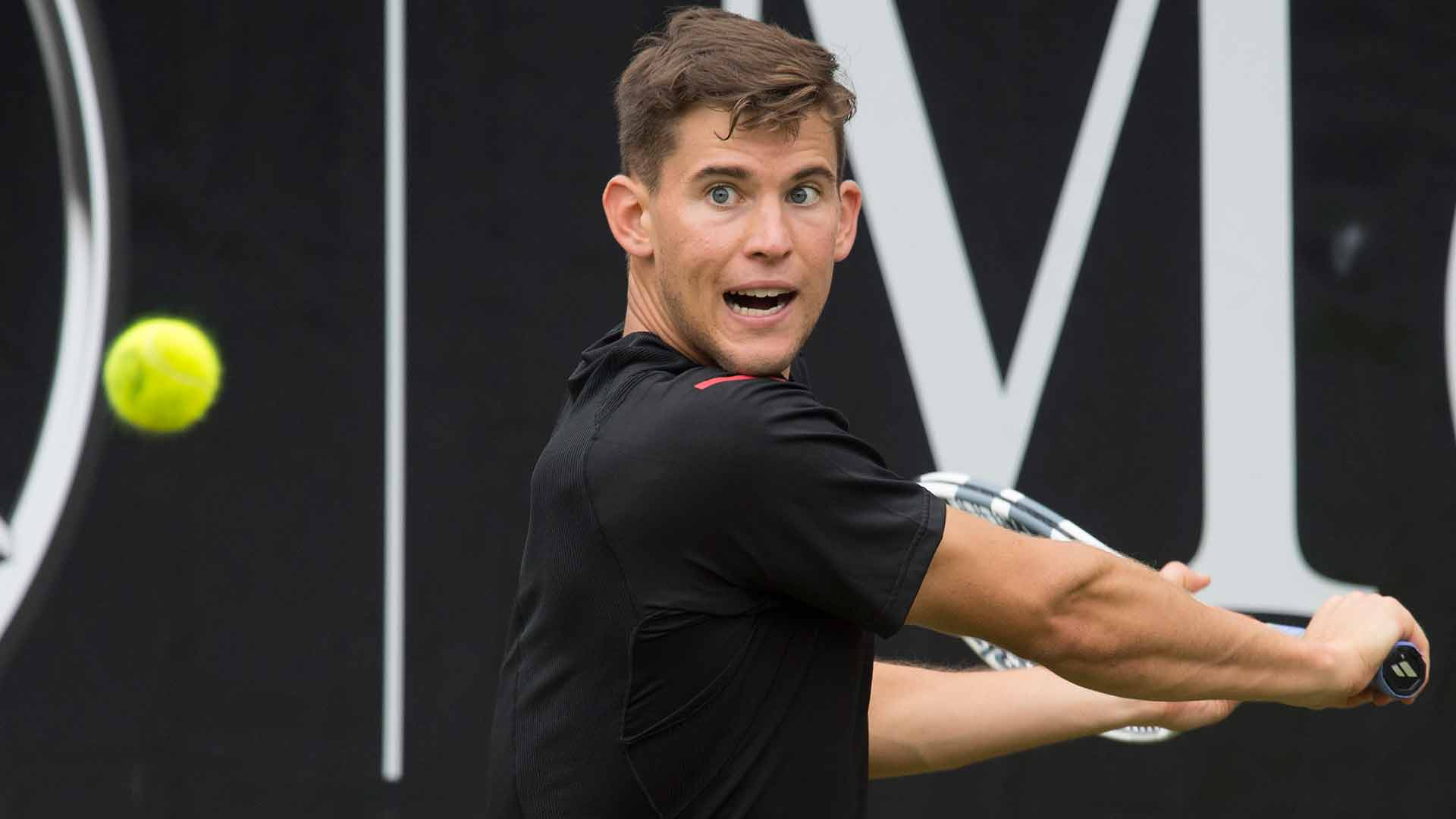 Dominic Thiem will resume his MercedesCup final in Stuttgart with Philipp Kohlschreiber on Monday.