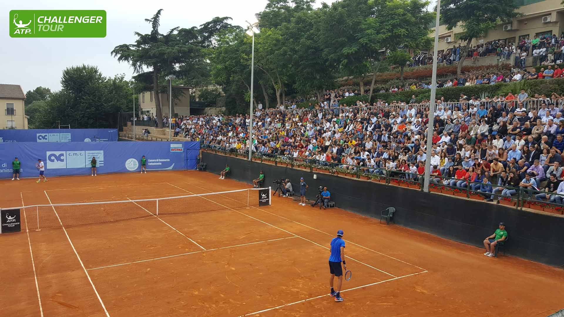 Packed crowds watch the matches in Caltanissetta.