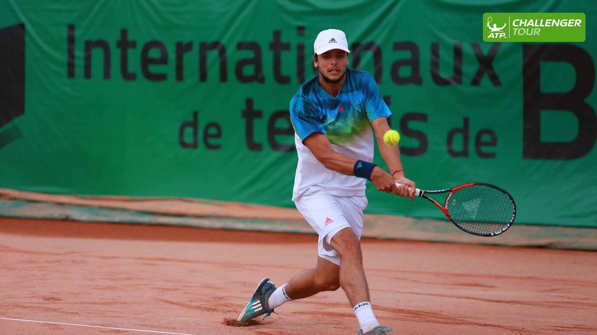 Gregoire Barrere competes this week at the ATP Challenger Tour event in Blois.