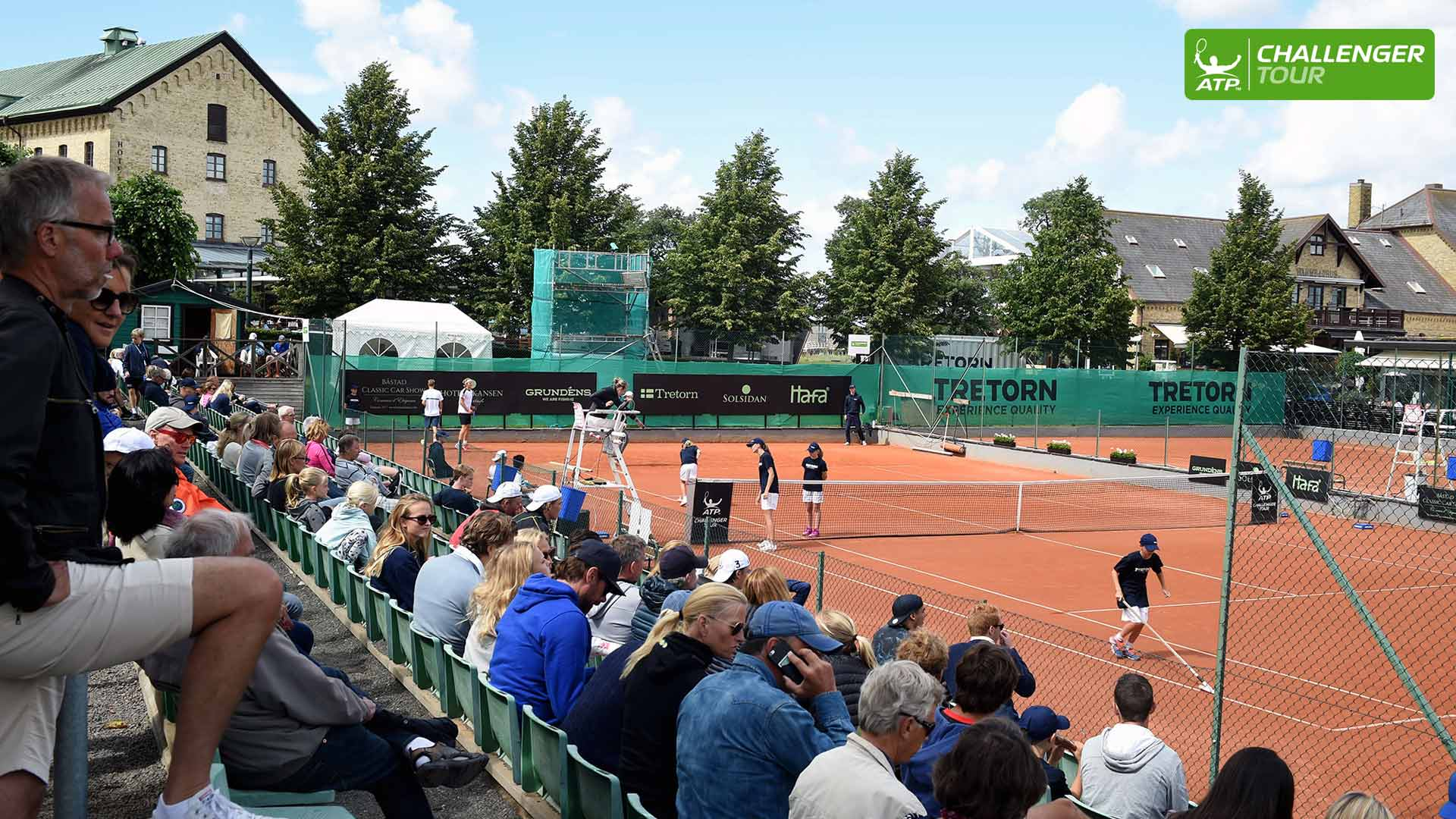 Packed crowds are enjoying the inaugural ATP Challenger Tour event in Bastad.