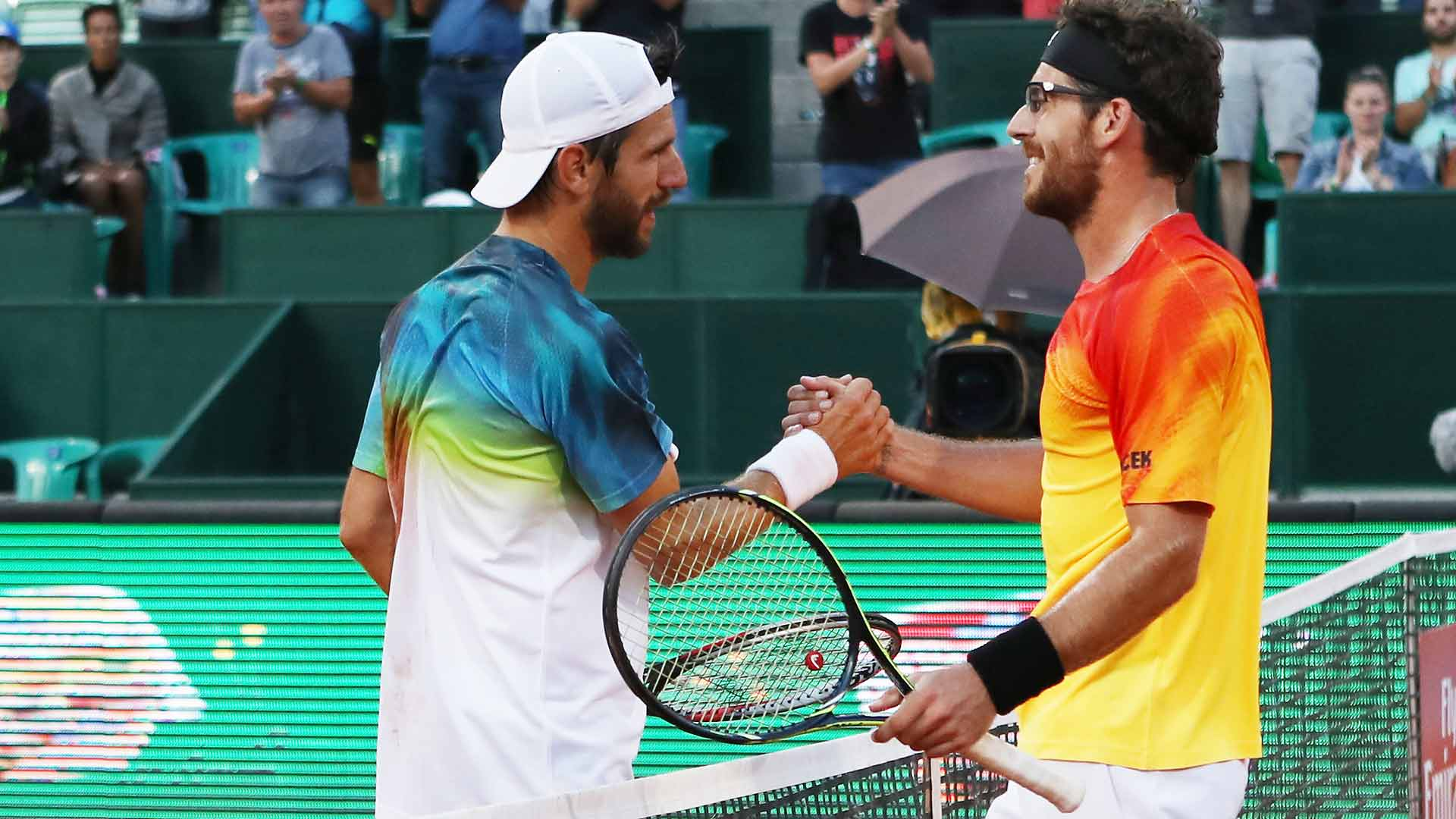 Gerald and Jurgen Melzer put on a show on Thursday at the Generali Open in Kitzbuhel.