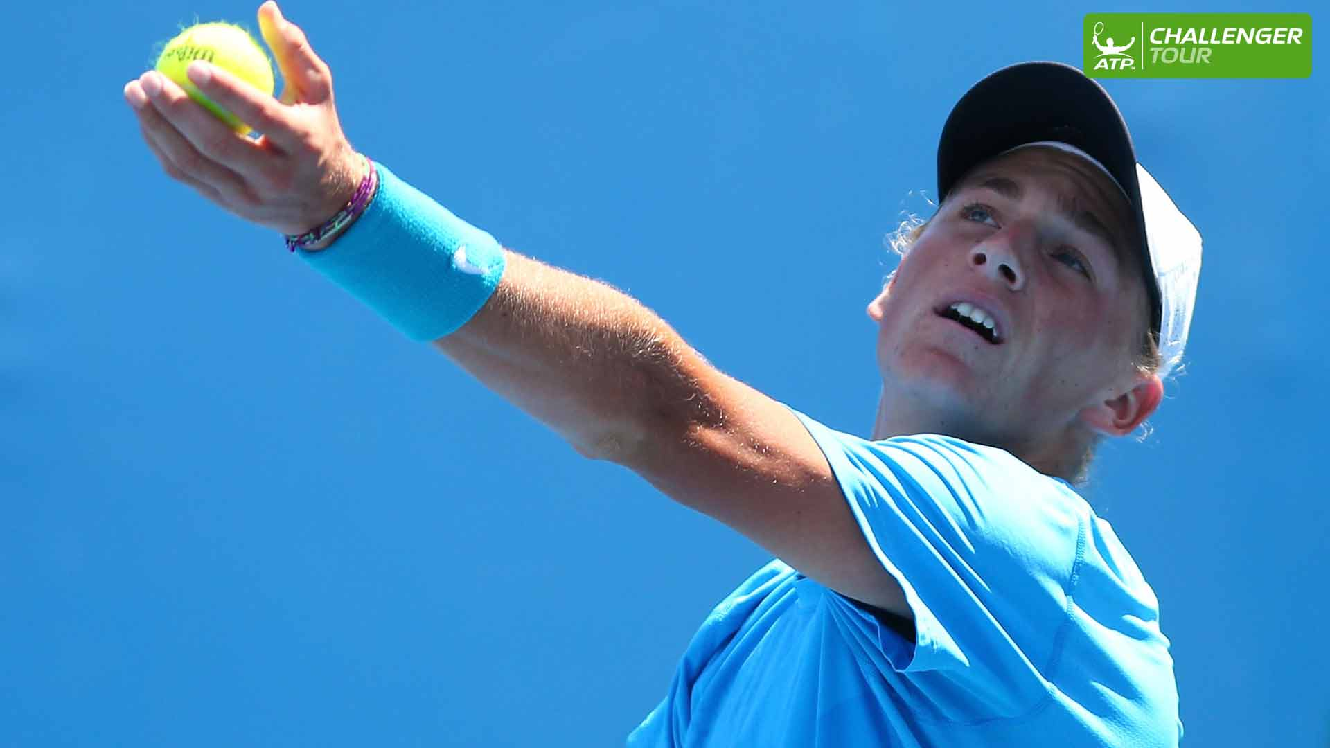 Max Purcell announces his arrival at the ATP Challenger Tour event in Gimcheon.