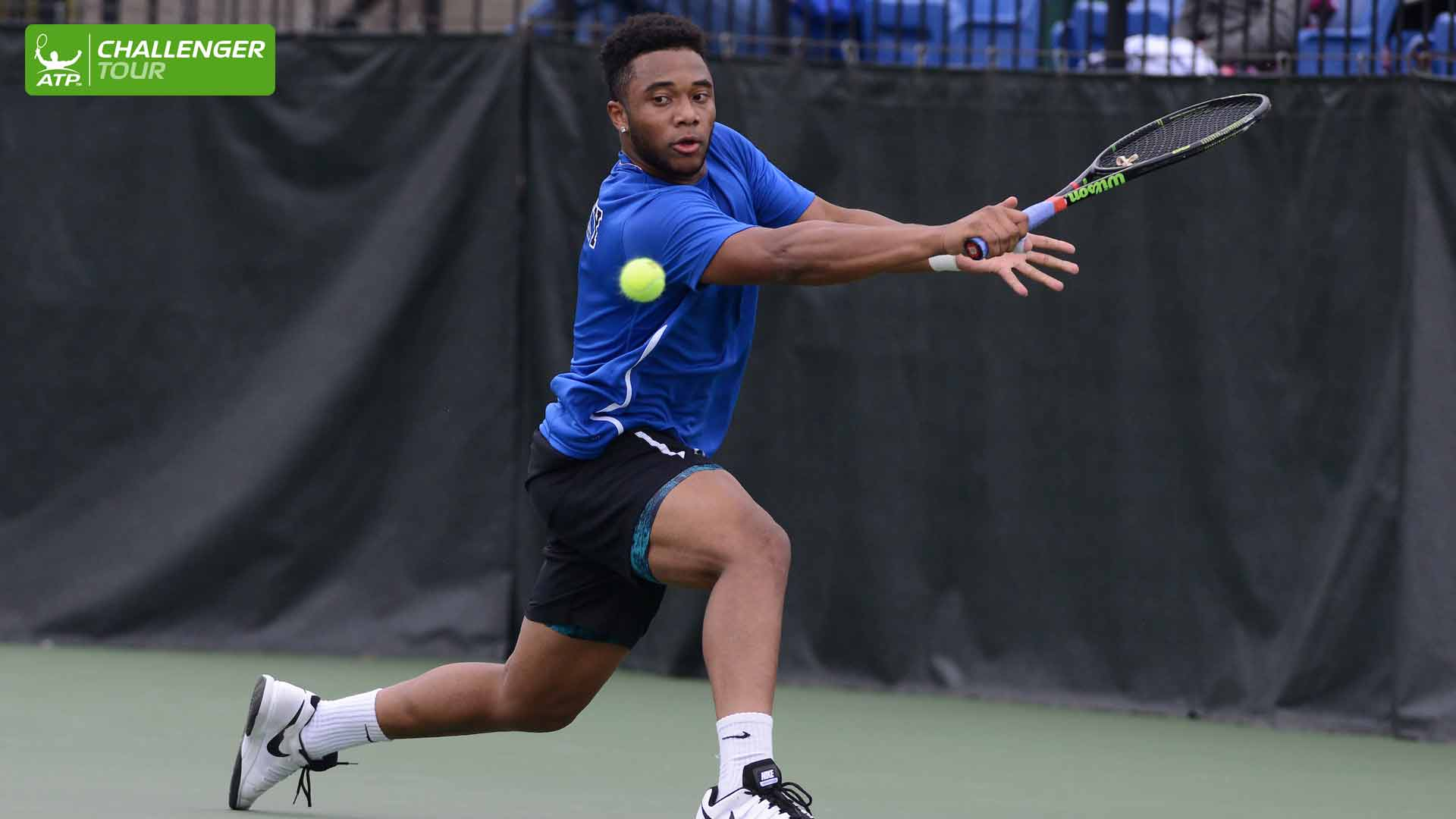 William Bushamuka competes in his first ATP Challenger Tour main draw match in Lexington.