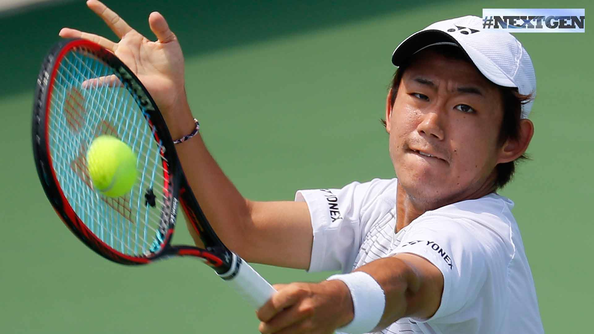 Yoshihito Nishioka advances to the semi-finals of the BB&T Atlanta Open on Friday.