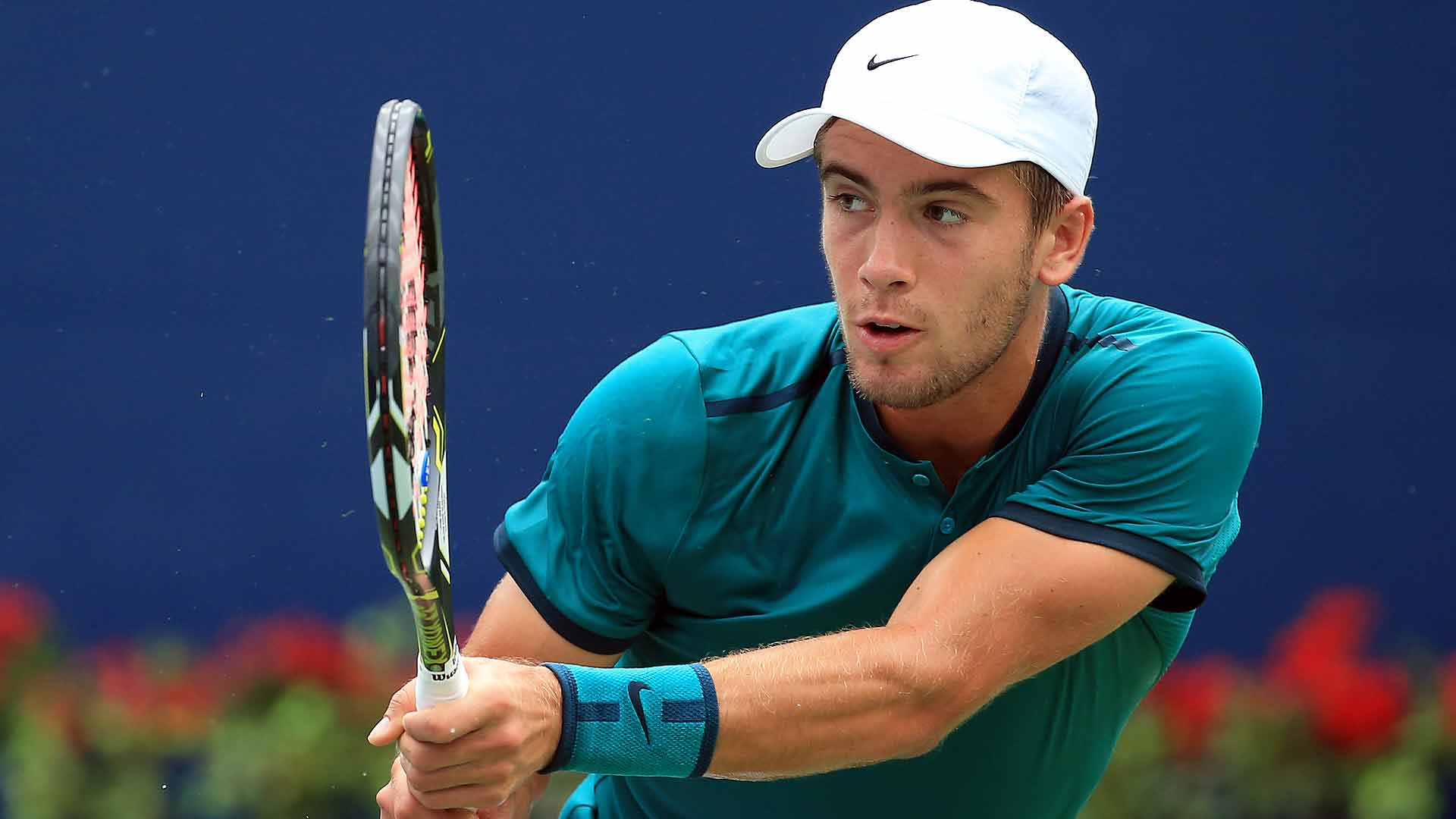 Borna Coric records a convincing win over Rafael Nadal on Thursday at the Western & Southern Open.