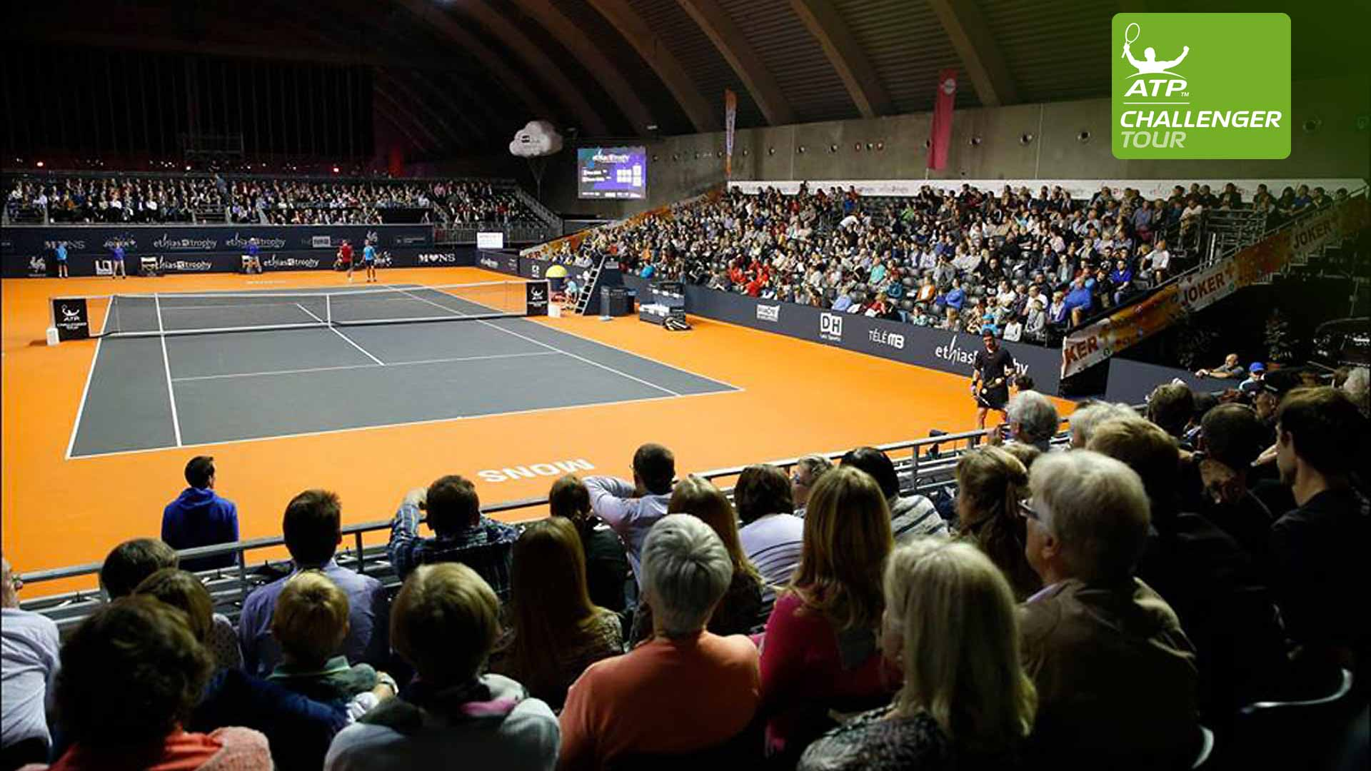 The ATP Challenger Tour event in Mons enjoys packed crowds each year.