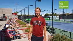 Jakob Amilon had the crowd on his side at the ATP Challenger Tour event in Las Vegas.