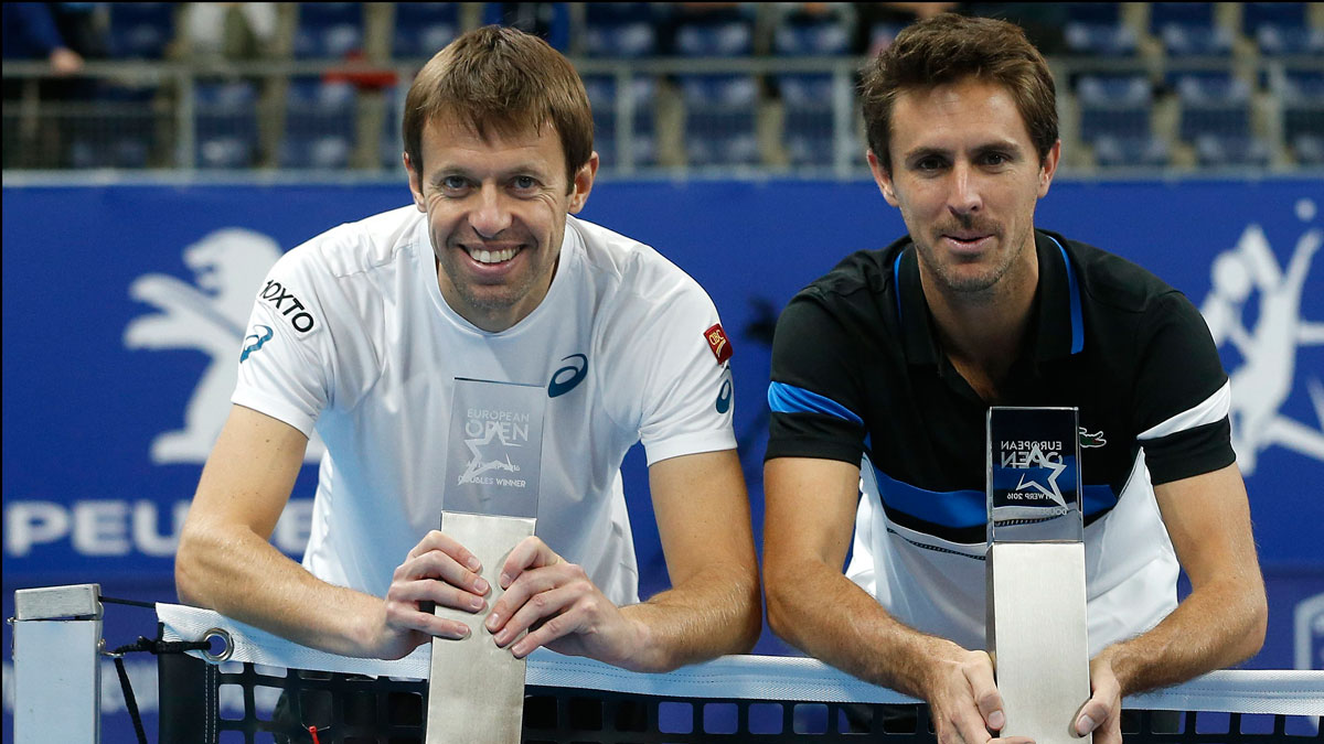 Daniel Nestor and Edouard Roger-Vasselin picked up their second title as a team this year in Antwerp.