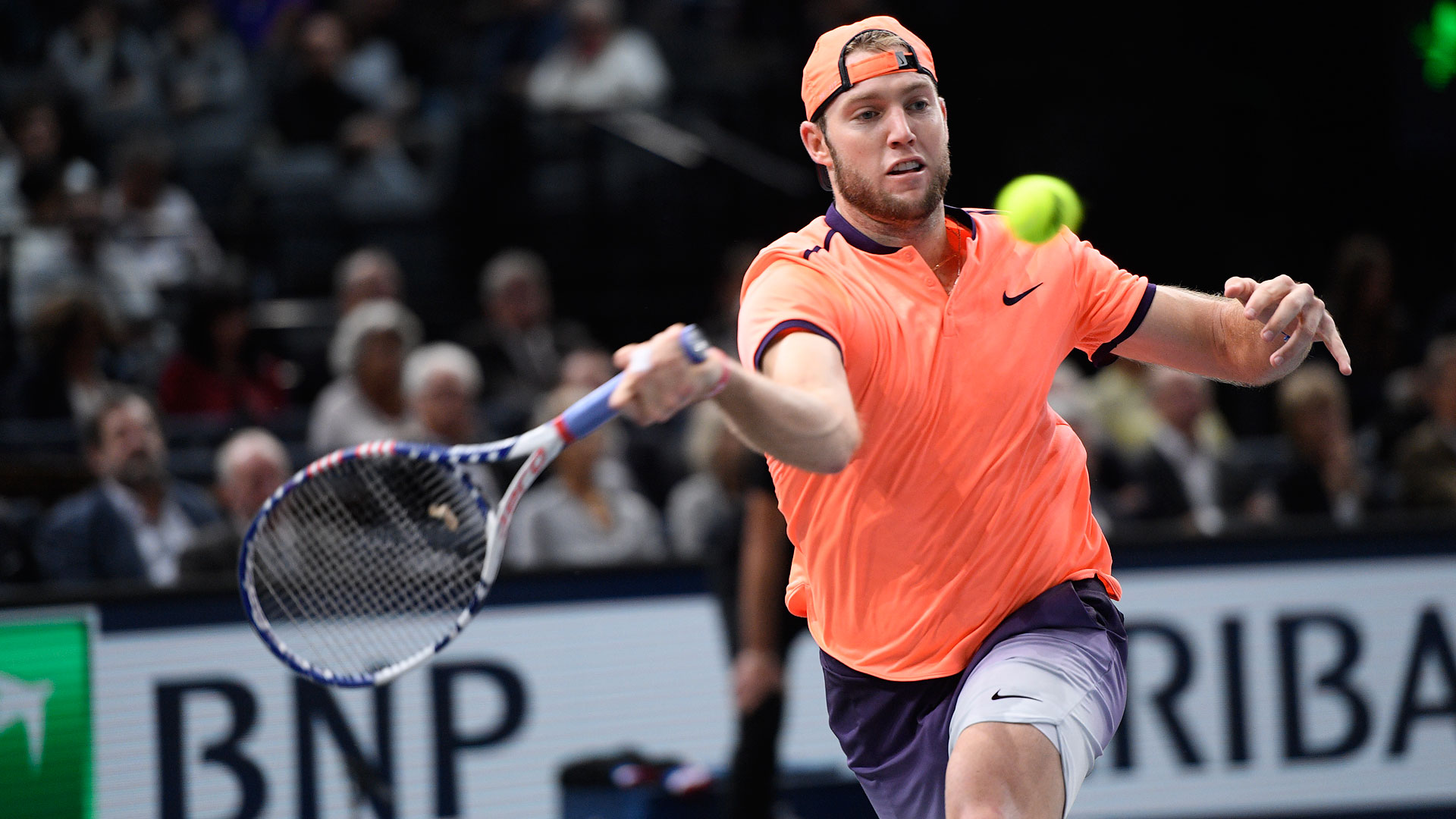 Jack Sock impressed the crowd with his sportsmanship at the BNP Paribas Masters.