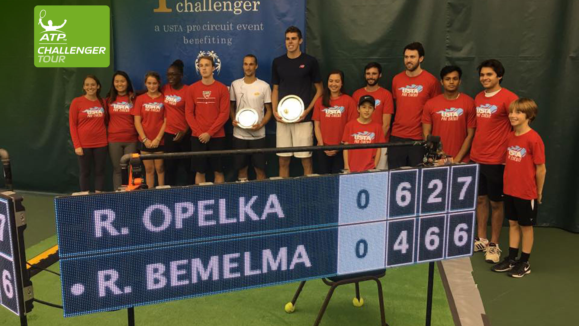 Reilly Opelka is all smiles after winning his first Challenger title in Charlottesville.