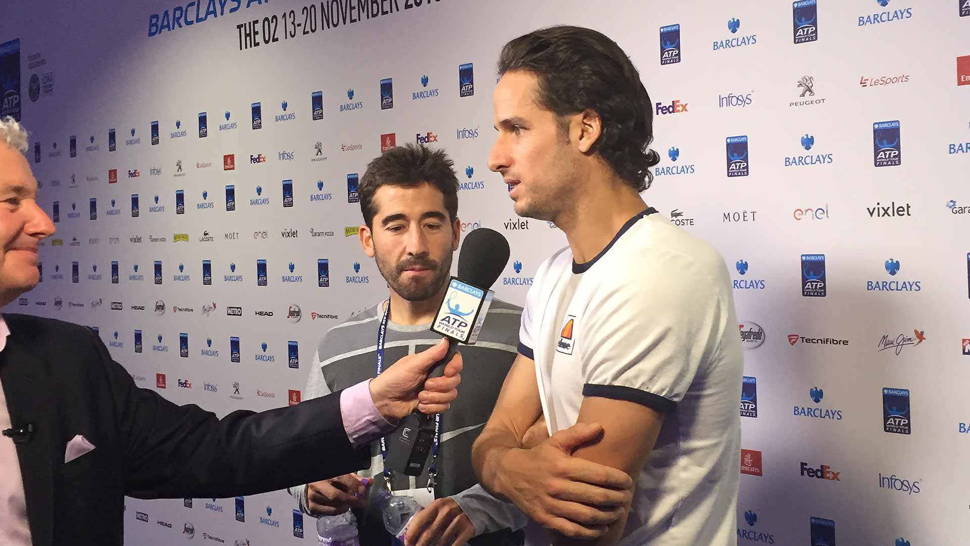 Feliciano Lopez is thriving on the atmosphere at the Barclays ATP World Tour Finals.