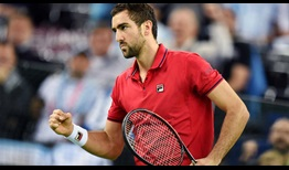 Marin Cilic record his 49th match win of 2016 over Argentina's Federico Delbonis on Friday in the Davis Cup final.