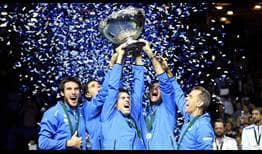 Argentina has its first Davis Cup title, defeating Croatia 3-2 in Zagreb.