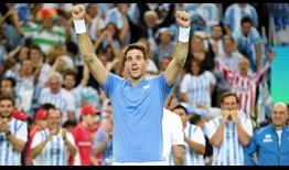 Juan Martin del Potro ends his comeback season of 2016 with his 32nd win of the year.