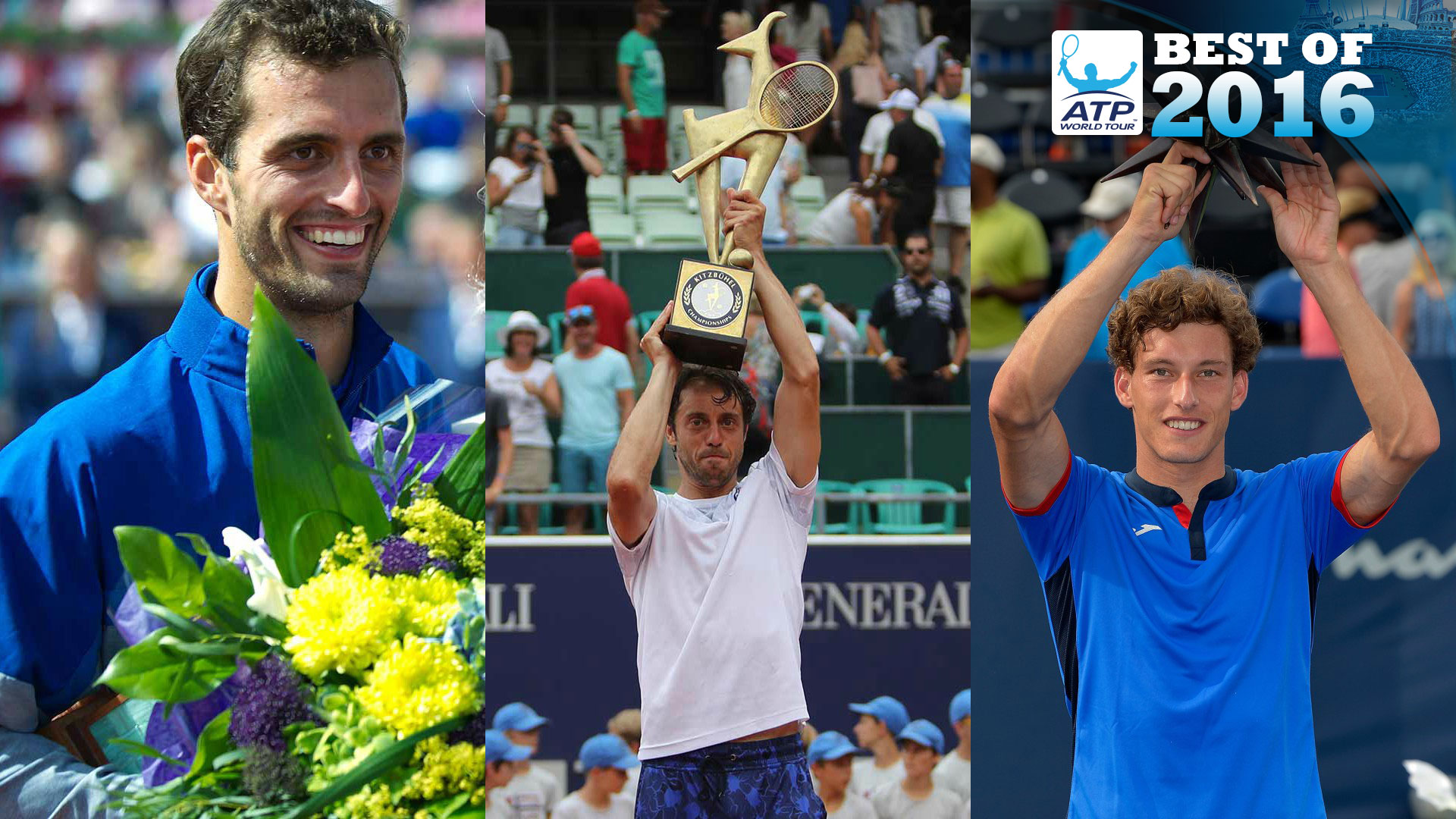 Albert Ramos-Vinolas, Paolo Lorenzi and Pablo Carreno Busta all won their maiden ATP World Tour titles in 2016.