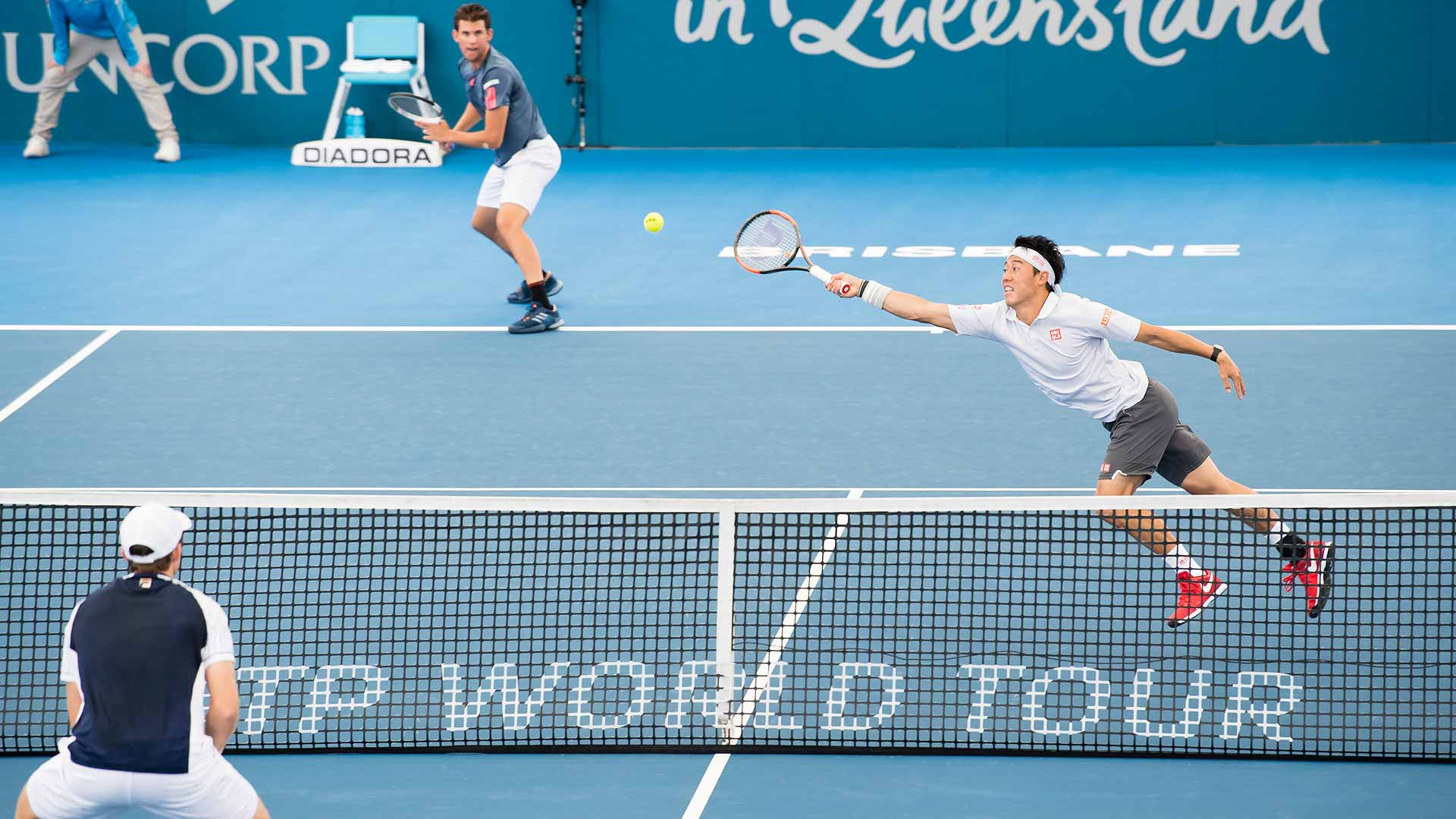 Dominic Thiem and Kei Nishikori pulled off an upset win in Brisbane.