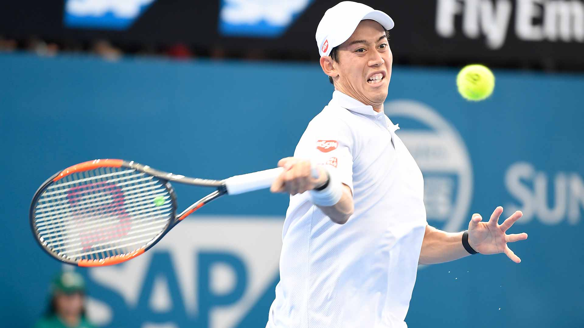 Kei Nishikori puts on a dazzling display against Stan Wawrinka in Brisbane.