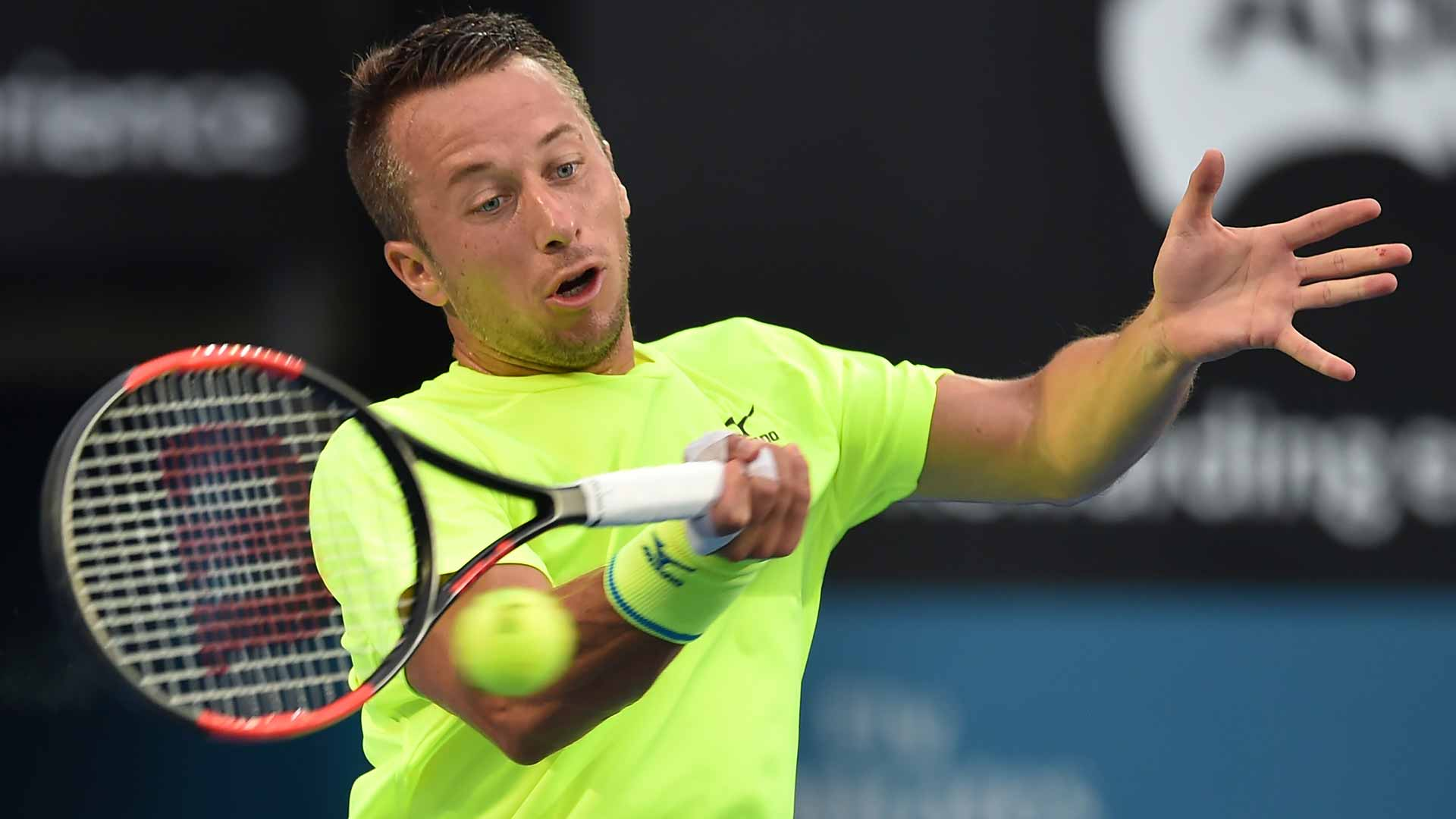 Fifth seed Philipp Kohlschreiber eased into the second round over Fabio Fognini.