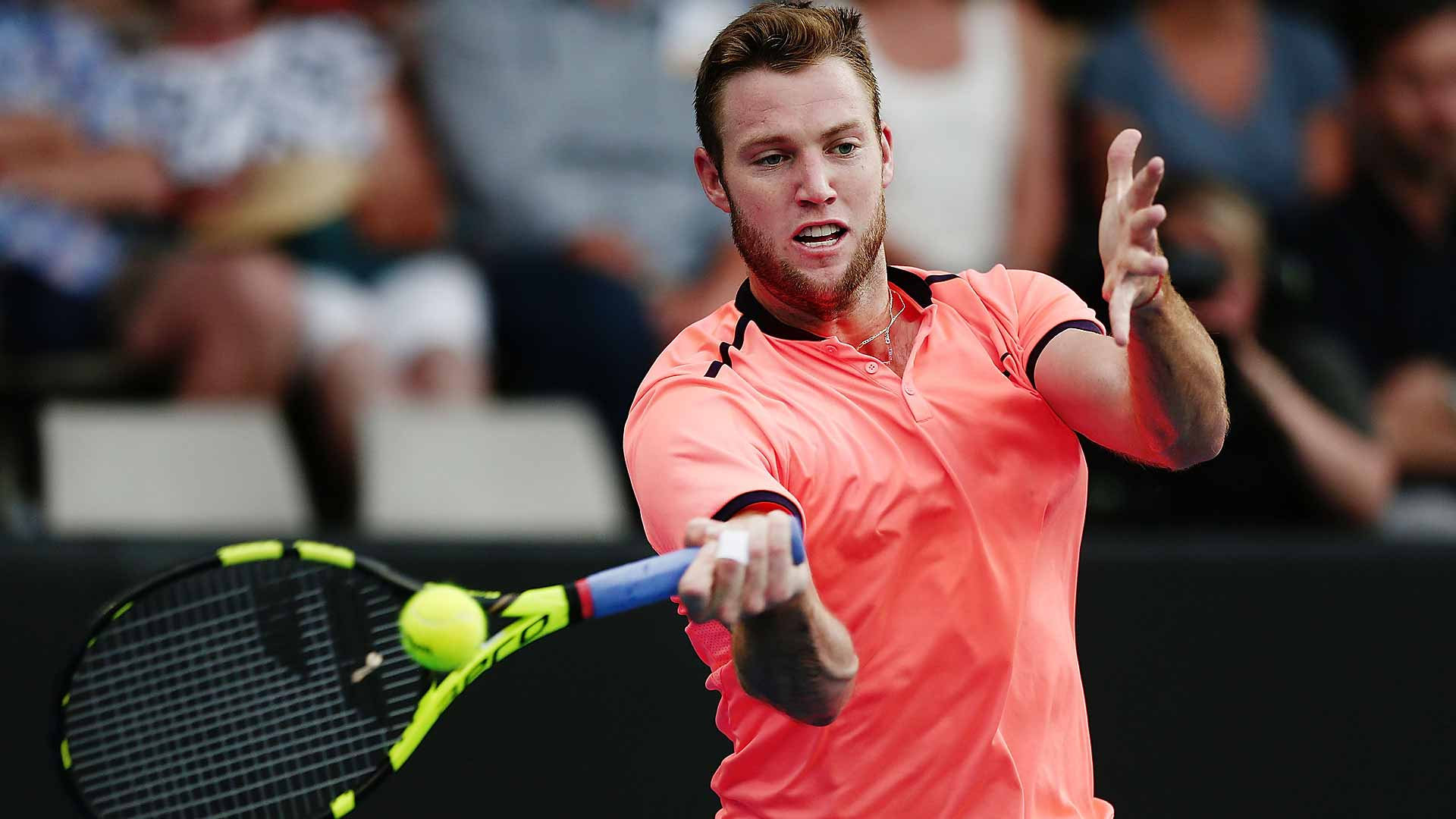 Jack Sock prevails in an all-American clash against Steve Johnson.