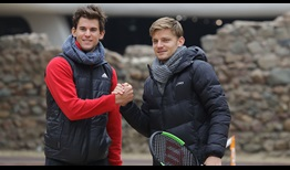 The Sofia Open's top two seeds, Dominic Thiem and David Goffin, visit the city's Ancient Serdica archaeological complex on Tuesday.