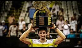 Pablo Cuevas improves to 4-1 against Albert Ramos-Vinolas in their FedEx ATP Head2Head series by winning the Brasil Open title on Monday.
