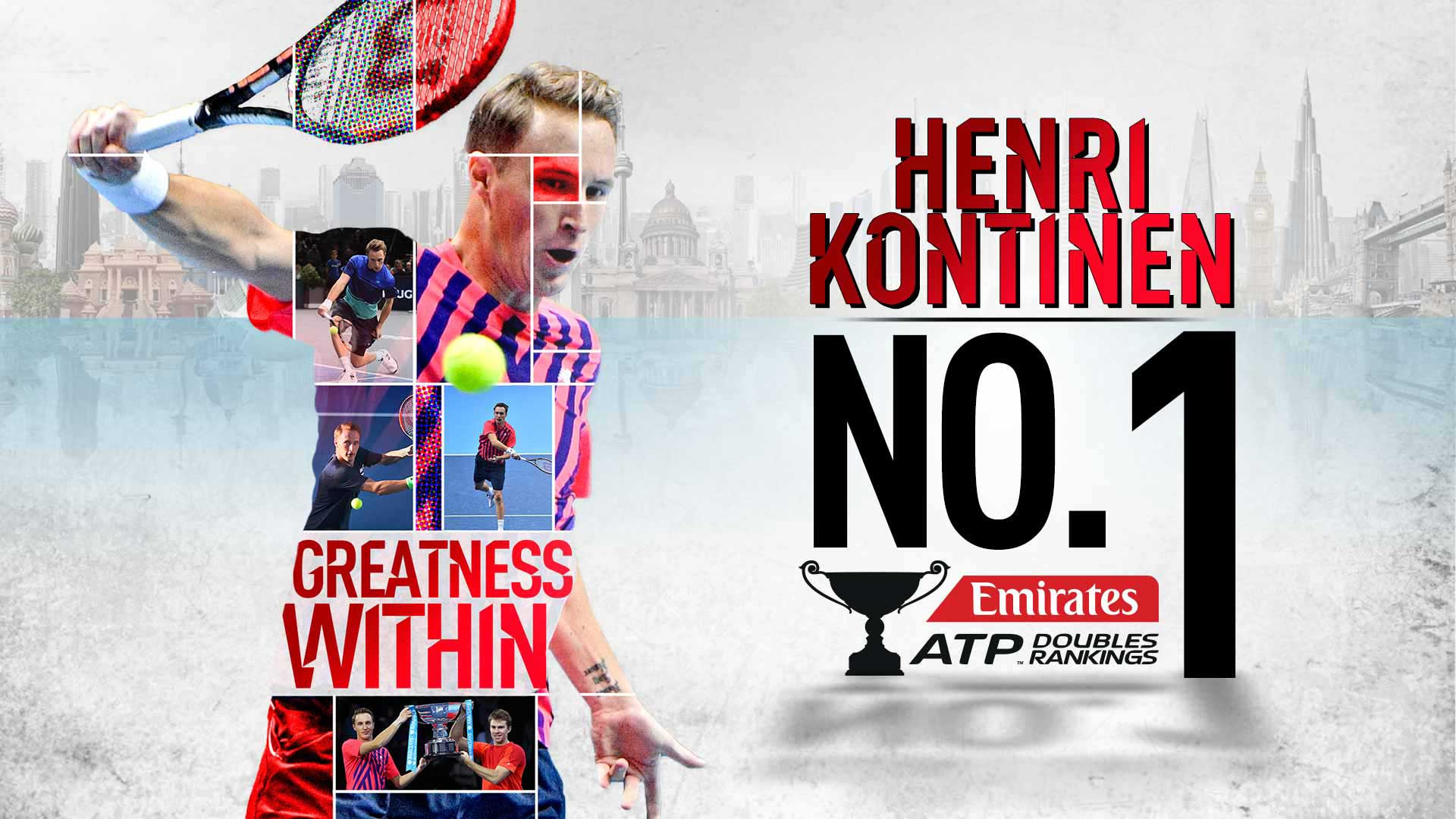 Finland's Henri Kontinen is the 50th player in the history of the Emirates ATP Doubles Rankings to rise to No. 1.