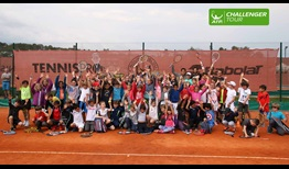 The Mouratoglou Tennis Academy hosts Kids Day at the Verrazzano Open.
